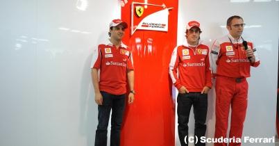 フェラーリ、2011年のフェルナンド・アロンソとフェリペ・マッサは対等 thumbnail