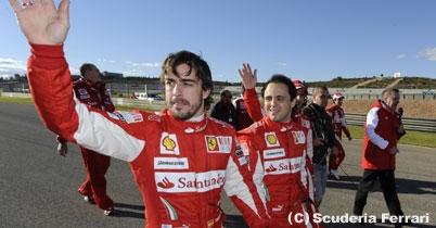 フェラーリ会長、フェルナンド・アロンソとフェリペ・マッサを採点 thumbnail