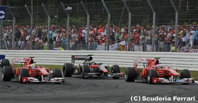 フェラーリ、シーズン後半にチームオーダーの可能性 thumbnail